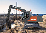 Atlas Cranes UK can provide a wide range of small, medium and large truck loader cranes. They can also supply wheeled excavators, material handling excavators, crawler excavators, rail-road excavators and short tailed crawler excavators to enable you to work more effectively and safer than ever before.