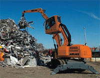 Atlas material handlers include mobile industrial machines and industrial tracked machines, which work on applications such as scrap, wood, bulky goods, special recycling, port applications and vacuum operations.