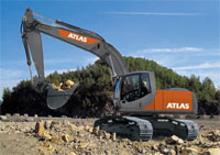 Atlas Crawler Excavators maximum digging performance, large loads and superior tear-out and break-away forces thanks to excellent kinematics. Maximum power with Cummins high-performance engines.
