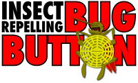 The BugButton® repels flying biting insects and many other annoying flying pests.