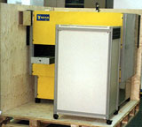 Clip-Lok plywood packaging cases can be assembled around delicate equipment