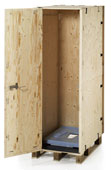 Clip-Lok has developed a combined transport box and latrine shelter which has resulted in The Dual Purpose Box.