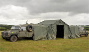 Shelters with Land Rover attachment from Franklin Equipment