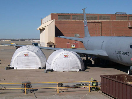 J.B. Roche also design and manufacture a full range of Inflatable Shelters for Military applications
