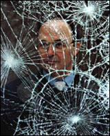 Shattered glass protected by Pentagon Protection
