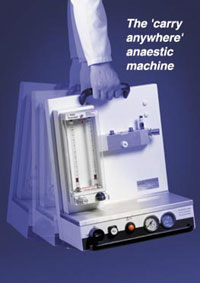 Anaesthesic Machines from Pneupac the 110 - This compact, lightweight machine has been designed as the perfect solution for emergency anaesthesia.