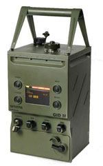 The GID-M chemical agent detector is designed to detect, identify, record and transfer CWA / TIC and associated data to operators and to battlefield information and management systems.