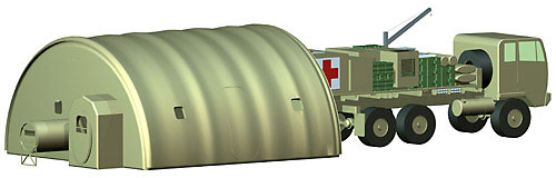 The Chemical Biological Protective Shelter Model 4A (CBPS-M4A) is a highly mobile, self-contained collective protection system that provides a contamination free, environmentally controlled working area for medical combat services and combat service support personnel to work freely without continuously wearing chemical-biological protective clothing.