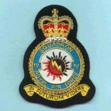4 Sqn Gold Wire Crest
