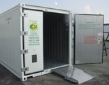 ArcticStore portable cold storage units are available in 10', 20' & 40' sizes. ArcticStores are best where you need easy and frequent access to your products.